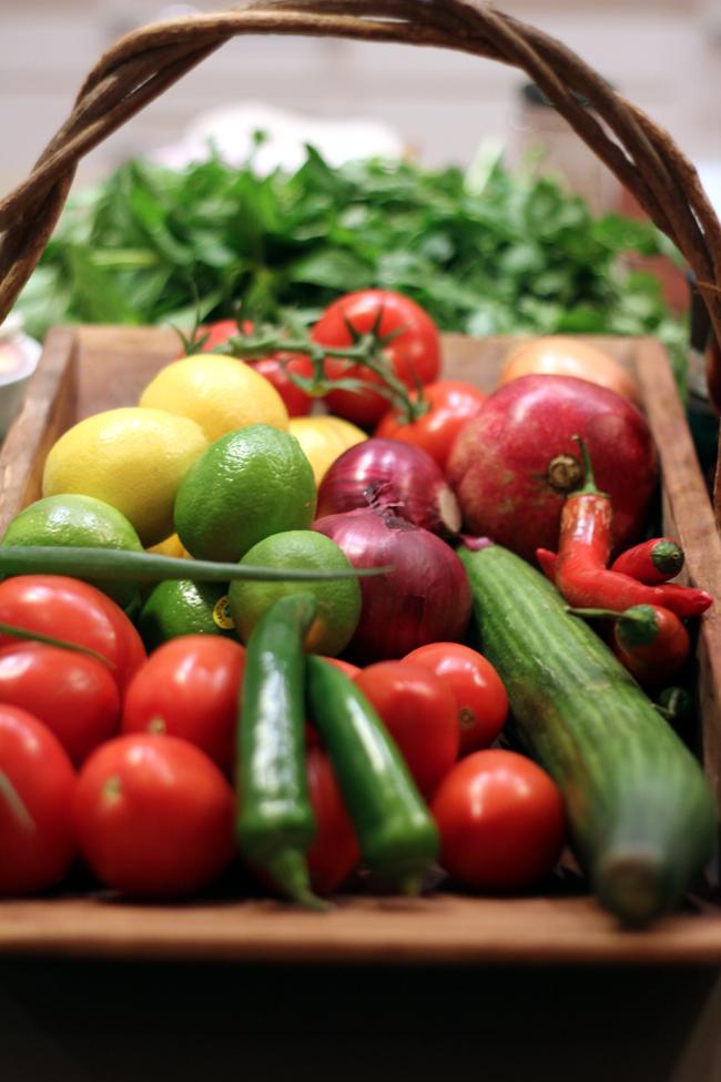 Fresh ingredients nourishing nosh